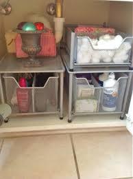 to organize under the bathroom sink