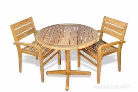 small teak outdoor patio dining set