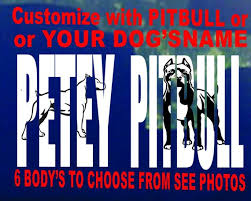 Pitbull Custom Car Decal Personalized With Name Mom Dad Or Etsy