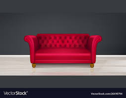 red couch sofa modern dwelling interior