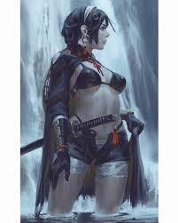 wallpaper guweiz samurai sword