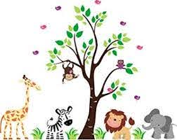 Amazon Com Kids Room Wall Decals Safari Nursery Stickers Jungle Themed Nursery Decor Baby Room Wall Prints Individual Pieces Nature And Wildlife Desert Creatures Baby Shower Gift Baby