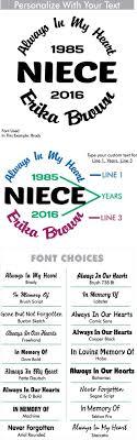 Niece Custom Memorial Die Cut Vinyl Car Decal Designer Series Decals In Loving Memory Car Window Decals