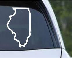 Illinois State Outline Il Usa America Die Cut Vinyl Decal Sticker Decals City