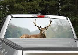 Elk Buck Deer Rear Window Graphic Decal Perforated Etsy