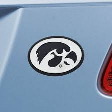 Set Of 2 Ncaa University Of Iowa Hawkeyes Chrome Emblem Automotive Stick On Car Decal Christmas Central