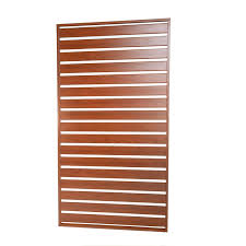 Protector Aluminium 900 X 1750mm Wood Tech Easy Screen Screwed Slat Panel