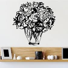 Roses In Vase Wall Sticker Decal World Of Wall Stickers