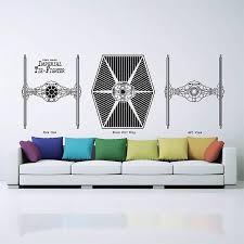 Imperial Tie Fighter Star Wars Vinyl Wall Art Decal