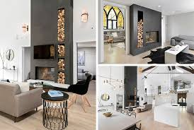 double sided fireplace into