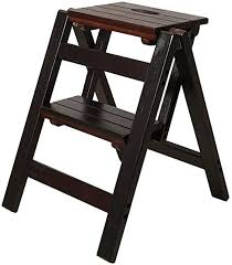 Kitchen Wooden Ladders Small Foot Stools Wood Folding Step Stool For Adults Amp Kids Indoor Folding In 2020 Folding Step Stool Living Room Stools Kids Room Furniture