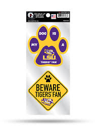 Lsu Tigers 2 Piece Pet Themed Auto Decal Yellow 7141764