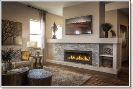 gas fireplace insert fake fireplace