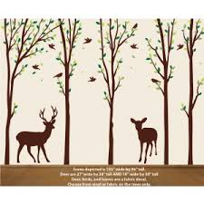 Deer Nature Tree Decal For Nursery