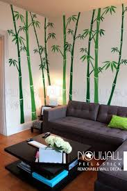 Removable Bamboo Wall Decal Tree Wall Decals Wall Sticker Etsy