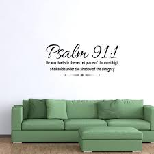 Abide Under The Shadow Of The Almighty Psalm 91 1 Bible Wall Decal Kids Room Murals Wall Decals Removable Vinyl Wall Decals