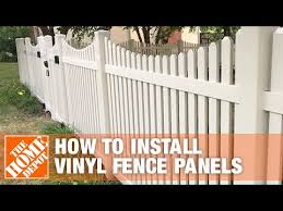 How To Install Vinyl Fence Panels The Home Depot Youtube