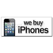 12 We Buy Iphones Decal Sticker Computers Mobile Batteries Electronics I Walmart Com Walmart Com