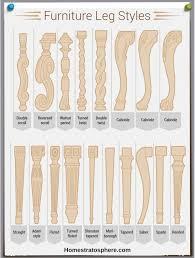 leg styles table chair sofa legs