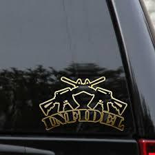 Infidel Assault Rifle Decal Sticker Ar15 Nra Pro Gun Ammo Truck Window Laptop Ebay