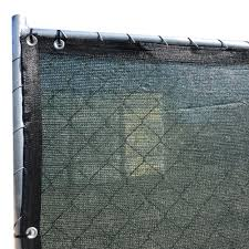 Fence4ever 46 In X 50 Ft Green Privacy Fence Screen Plastic Netting Mesh Fabric Cover Wit