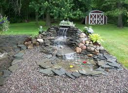 small pondless backyard founn ideas