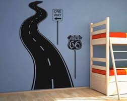 Road Wall Decal Etsy