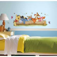 Kids Wall Decal Winnie The Pooh 5 In X 19 In Giant Peel And Stick For Sale Online