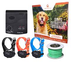 Waterproof Hidden Deluxe Electric Dog Fence System Fencing Containment Collar