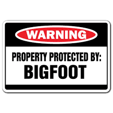 Property Protected By Bigfoot 3 Pack Of Vinyl Decal Stickers Walmart Com Walmart Com