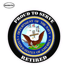 Hotmeini 12cm X 12cm Car Stickers United States Proudly Served Navy Retired Decal Car Styling Funny Auto Motor Decor Graphics Car Stickers Aliexpress