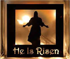 Amazon Com Say It On The Wall Vinyl Decal He Is Risen Glass Block Home Kitchen
