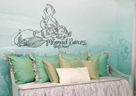 The Little Mermaid Princess Sleeps Here Wall Decal Sticker 18 7 W X 12 Lucky Girl Decals