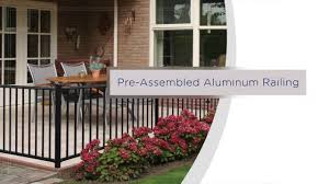 Freedom Pre Assembled Aluminum Railing Installation Overview Youtube