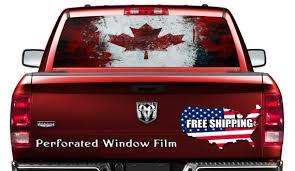 Grunge Flag Car Decal Canada Car Sticker Flag Full Color Etsy