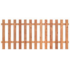 3 5 Ft H X 8 Ft W Western Red Cedar Flat Top Fence Panel In The Wood Fence Panels Department At Lowes Com