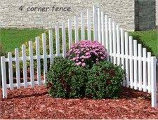 Corner Picket Fence For By The Driveway Garden Yard Ideas Corner Landscaping Fence Landscaping