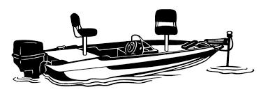 Bass Boat Decal Sticker