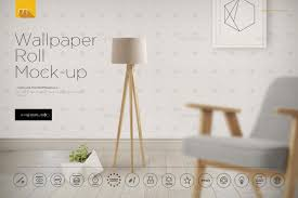 wallpaper roll mock up by