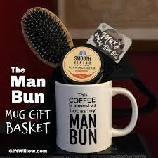 the man bun mug gift basket gift willow