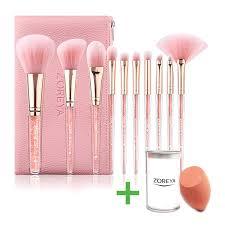highend makeup brushes crystal handle