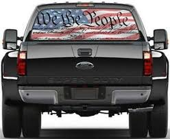 American Flag We The People Rear Window Decal Sticker Car Truck Suv Van 225 Ebay