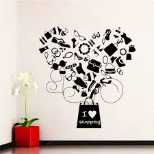 Shop I Love Shopping Vinyl Sticker Wall Art Free Shipping On Orders Over 45 Overstock 10425666
