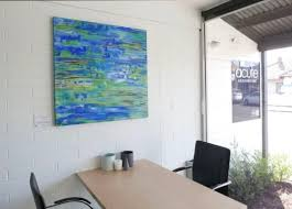 """Lily pond"""" Painting by Myra Carter seen at Acute Accounting, Williamstown 