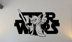 Home Garden Star Wars Yoda Wall Art Sticker Home Children S Kids Bedroom Playroom Toy Room Decor Decals Stickers Vinyl Art