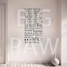Family Rules Wall Sticker House Home Vinyl Wall Art Decal Hallway Kitchen Ebay