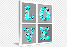 Kind Graphic Design Art Poster Wall Decal Turquoise Frame Poster Teal Love Letter Png Pngwing