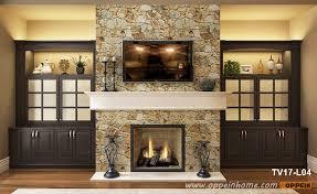 tv cabinet around fireplace tv17 l04