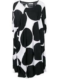rundholz black label black dot dress