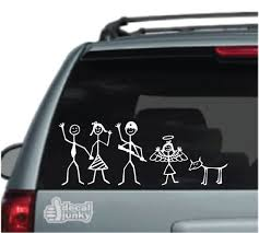 Stick Figures Family Car Decals Stickers Decal Junky